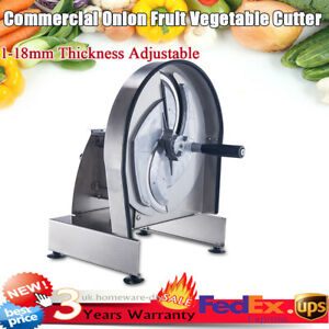 Commercial Tomato Slicer Fruit Vegetable Cutter Tomato Cutting Machine 1-18mm
