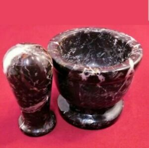 Mortar And Pestle Red Marble (4
