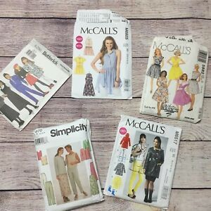 Simplicity McCall Butterick Assorted Sewing Patterns Lot Of 5 4 Uncut 1 Cut $17.40