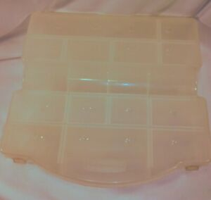 Rubbermaid compartment craft sewing organizer case $10.00