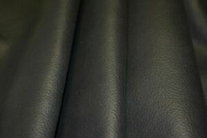 Black Leather Hide Upholstery Half Cow Hide 12 17 Feet Stunning