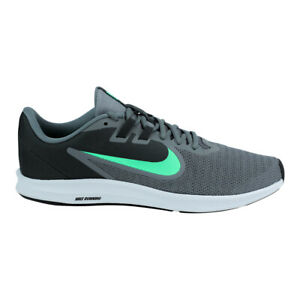 Nike Mens Downshifter 9 Running Shoes Cool Grey Electro Green 10.5 $50.00