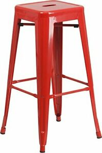Flash Furniture CH-31320-30-RED-GG Colorful Restaurant Barstools 30