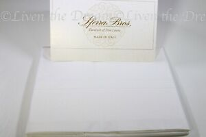 SFERRA 100% Long Staple Cotton Solid White Percale Italian King Pillowcases