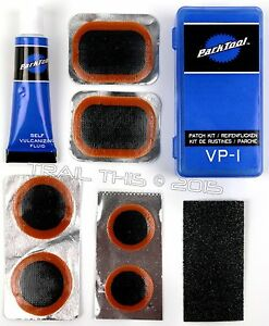 Park Tool VP 1 Bicycle Tire Tube Vulcanizing Patch Repair Kit 6 Patches Glue $5.80