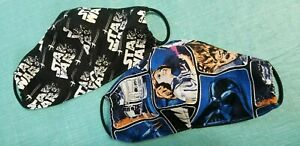 Handmade Cotton Washable Star Wars Fabric Face Mask 2-pack
