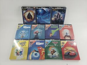 Disney Pixar Steelbook Movies SEALED 4k Ultra HD Blu Ray Digital Code READ $16.49