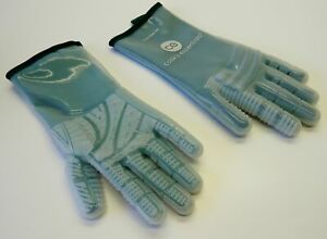 QVC Heat Resistant Silicone Gloves MEDIUM GREEN 572° F Cooking BBQ Smoker