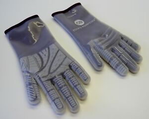 QVC Heat Resistant Silicone Gloves MEDIUM EGGPLANT 572° F Cooking BBQ Smoker
