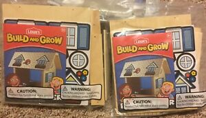 2 Kits Lowe's Build and GrowKids Wood Bird Feeder U build Kits With Patches.
