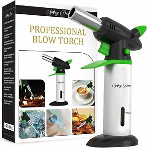 Blow Torch - Creme Brulee Refillable Professional Culinary Kitchen With Safety
