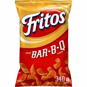 2 Bags Fritos BAR B Q BBQ Corn Chips LARGE Size 370g FRITO LAY From Canada FRESH