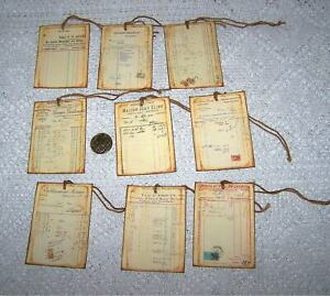 9-Vintage~French~Invoices~Text~Ephemera~Fussy Cut~Linen Cardstock~Gift~Hang~Tags