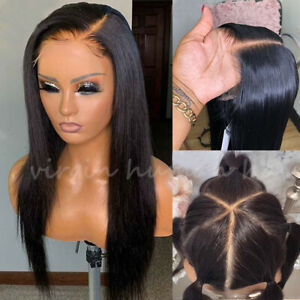 Best 4*4 Silk Base Top Full Lace Wigs 100% Real Indian Human Hair Wig Glueless P