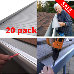 Stainless Steel Micro-Mesh Gutter Guard Leaf Rain Cover (20 Pack) Universal New