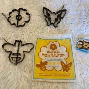 Williams Sonoma Set Of 3 Pancake Metal Molds Non-Stick Butterfly Bee Blossom