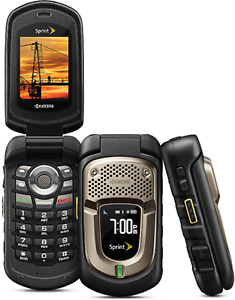GOOD Kyocera DuraXT E4277 Camera RUGGED PTT CDMA Speaker Flip SPRINT Cell Phone