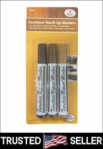 Wideskall Wood Floor & Furniture Repair Touch-Up Markers Scratch Cover 3 Colors