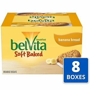 belVita Soft Baked Breakfast Biscuits, Banana Bread Flavor, 64 Packs 1 Biscuit