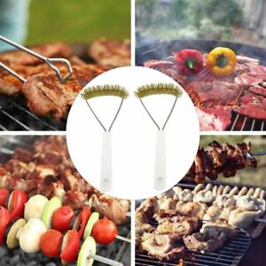 2Pcs BBQ Grill Brush Cleaner Stainless Steel Wire Cleaning Scraper Tool Gracious