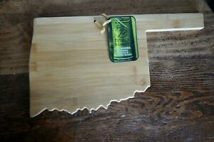Oklahoma Totally Bamboo State-Shaped Cutting & Serving Board - NWT