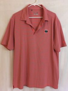 Under Armour Striped Polo Golf Shirt, Whiteface Club Lake Placid, Xl $11.98