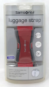 Samsonite Luggage Strap Belt Fits Bags Up To 72#x27;#x27; Red NOS New Sealed $9.99
