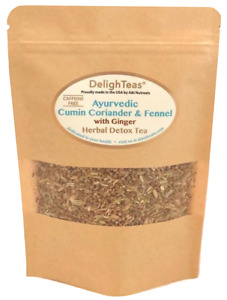 Organic Ayurvedic Cumin, Coriander and Fennel Tea with Ginger root (CCF Ginger)