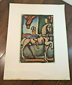 Antique George Rouault Equestrienne Circus of the Falling Star Lithograph