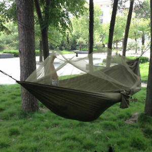 Double Person Travel Outdoor Camping Hanging Hammock Mosquito Net Bed Bag