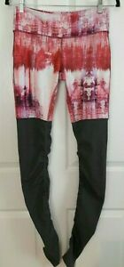 Alo athletic leggings anthropologie Ribbed goddess pink tie dye pants Small