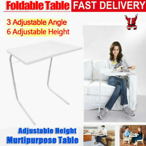 Folding Table Tray Adjustable 6 Height Laptop Desk Home Bed Office Portable