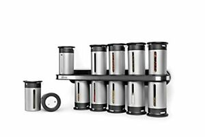 Zevro KCH-06100 Zero Gravity Spice Rack with 12 Canisters