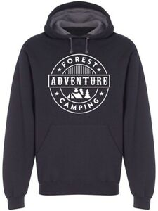Forest Adventure Camping Hoodie Men#x27;s Image by Shutterstock