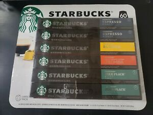 Nespresso Strabucks Capsules Variety Pack, 60 ct. - New Open Damaged Box