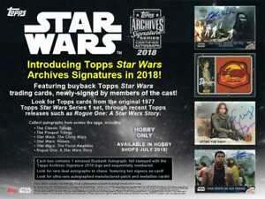 2018 TOPPS STAR WARS ARCHIVES AUTO AUTOGRAPH #'D