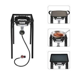 ZOKOP Outdoor 200000 BTU Cooking Gas Single Burner Stove BBQ Grill Camp Picnic