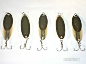 5 New Kastmaster Style Gold Spoon 1 ounce great for Troutamp; Bass