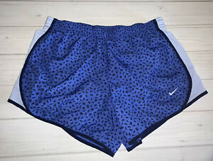 Nike Dri Fit Running Shorts Youth Girls Large L Blue All Over Print $14.99