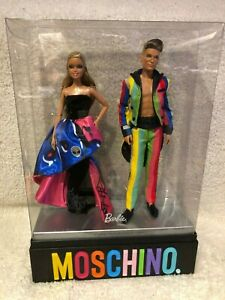 MOSCHINO Gold Label Barbie & Ken Dolls Gift Set Mattel 2016 Very Rare