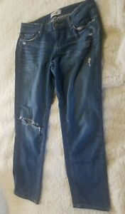 Paige Womens Jeans Jimmy Jimmy Denim Ripped Crop Destroyed Mid Rise Size 25 $26.90