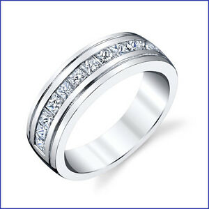Beautiful Masculine 14+gram 1.70ct Mens Diamond PLATINUM Designer Band