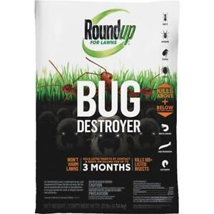Roundup For Lawns Bug Destroyer 10 Lb. Ready To Use Granules Insect Killer 2 pk