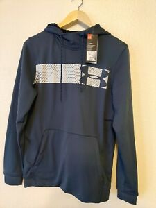 Under Armour UA Cold Gear Loose Fit Hoodie Logo Gray NEW Mens small $39.97