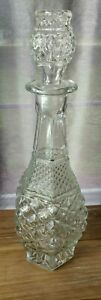 Crystal Wine Whiskey Tall Decanter with Stopper Vintage