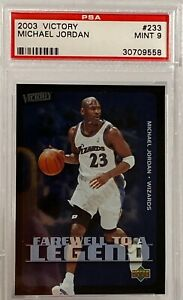 2003 04 Upper Deck Victory Michael Jordan Farewell To A Legend PSA Mint 9