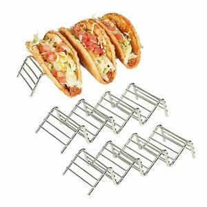 California Home Goods Stainless Steel Taco Holder 3 Pack