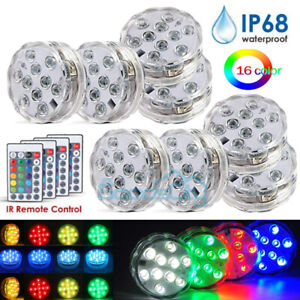 8Piece Waterproof Underwater Led Light with remote for Swimming Pool Hot tube A $45.99