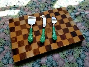 Beautiful Turquoise Anthropologie Cheese Knives - Set of 3