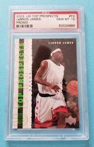 RARE 2003 Upper Deck UD Top Prospects Promo P2 LeBron James Rookie PSA Gem Mt 10